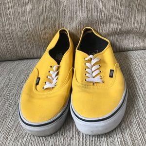 Men's Vans Low Top Shoes Sz 13 GUC Yellow Sz 13